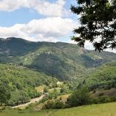Vue imprenable du gîte sur la vallée de la Glueyre.